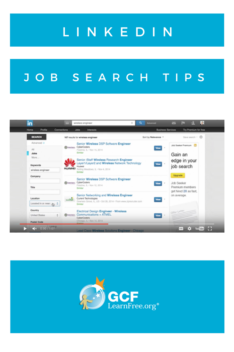 using linkedin to find a job use the videos in this lesson as handy - Linkedin Jobs Search Finding Jobs Using Linkedin