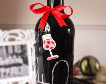 Decorated wine bottle by BoozyBirdDesigns on Etsy