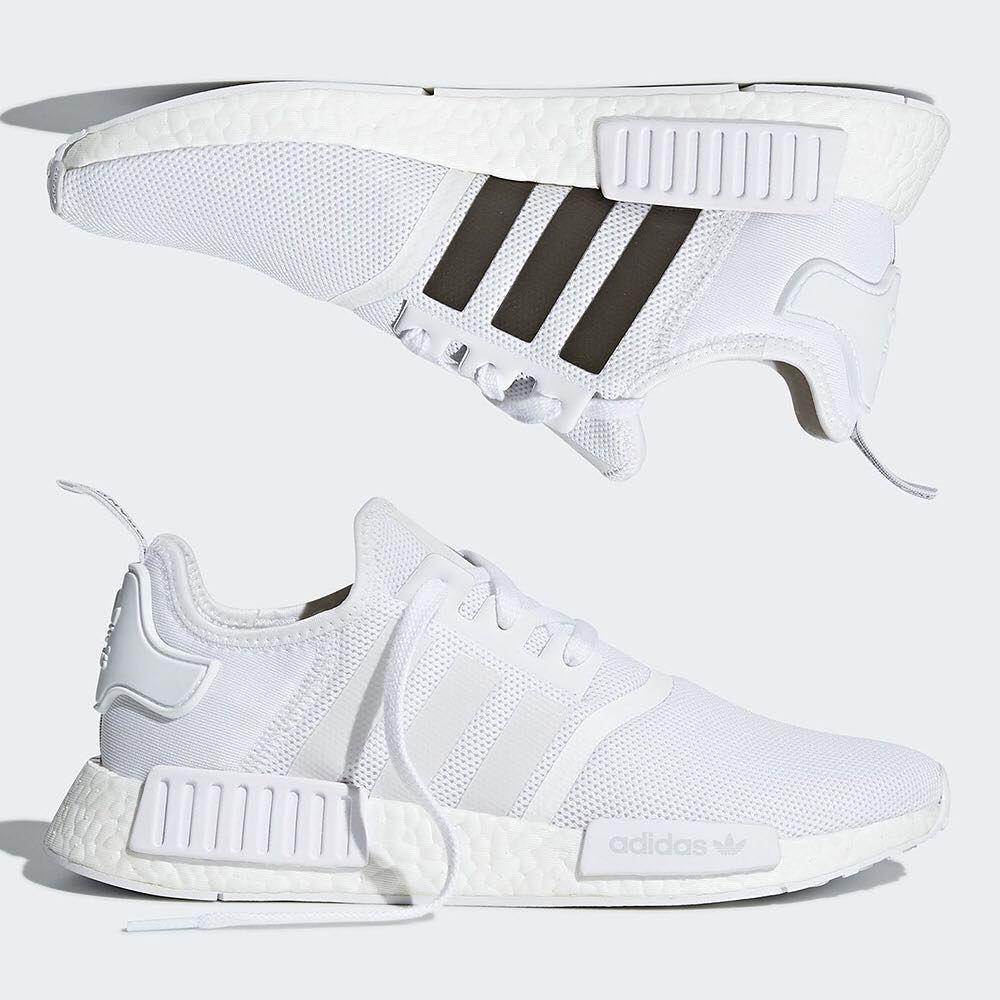 Adidas Nmd R1 Triple White Grailify Sneaker Releases Adidas Nmd Sneakers Fashion Adidas Superstar Black