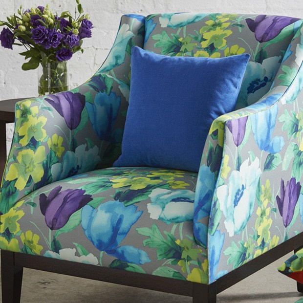 Seating Mini Gravita Armchair In Oriental Garden Fabric: Warwick Fabrics: TUILERIES Collection
