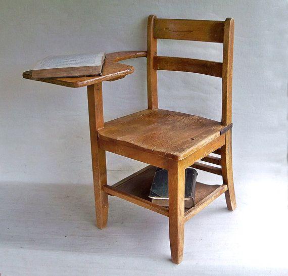 1930s All Wood Elementary School Desk Wonderful By Leapinglemming 119 95