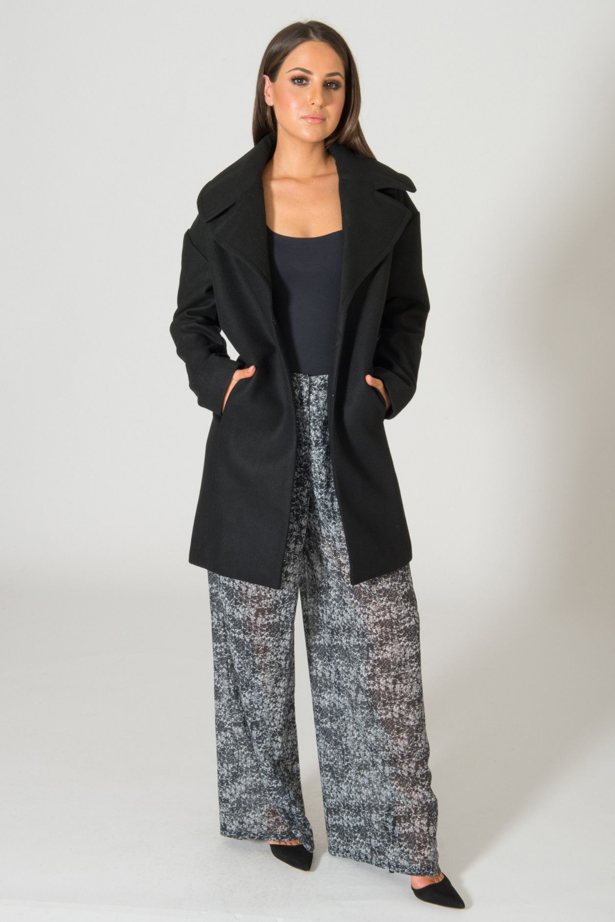 It's just a graphic of Lively Brave Soul Black Label Wool Coat