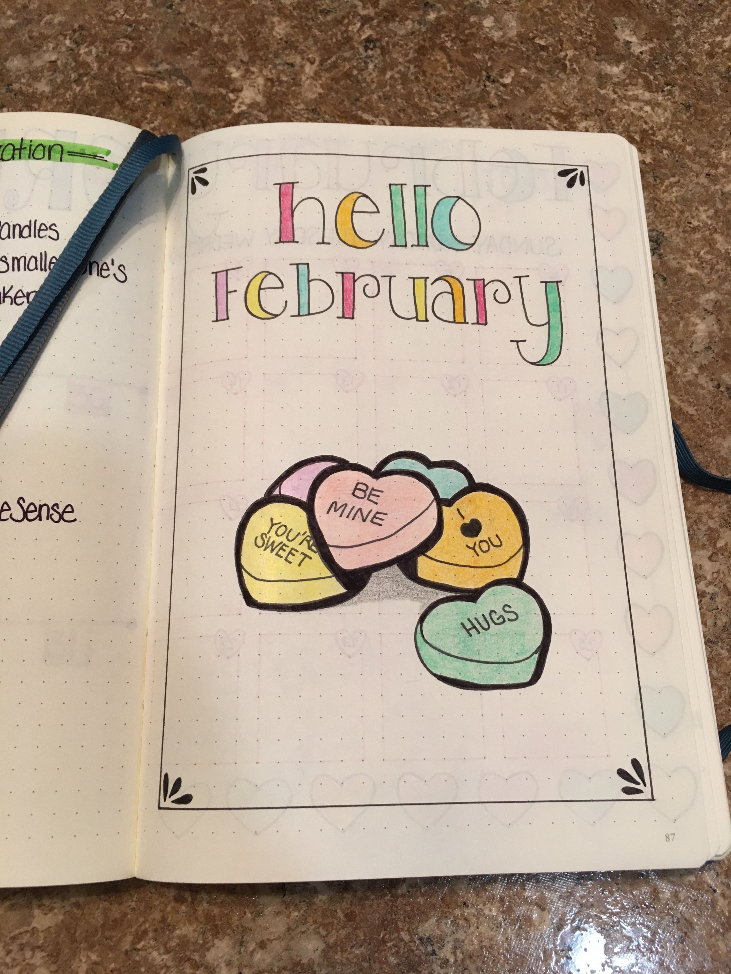 Calendar Layout February 2018 : Feb cover page bullet journaling pinterest