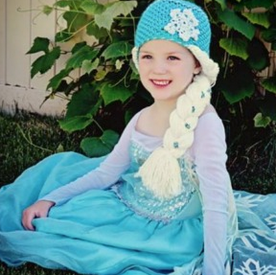 Elsa Hat With Braid Crochet Pattern Free Video Instructions ... 448835f6b45