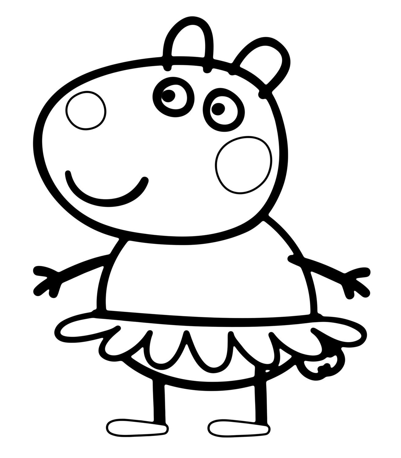 Suzy Sheep In Peppa Pig Coloring Page