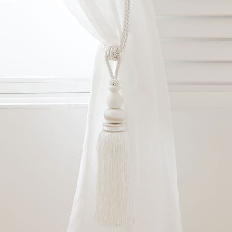 White Curtain Tieback Zara Home Norge Norway White Curtain