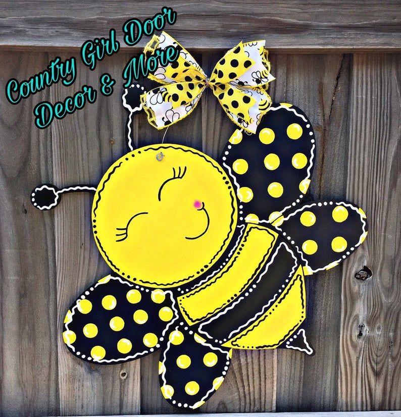 Photo of Bumblebee Door Hanger, Bumble Bee Door Hanger, Door Decor, Summer