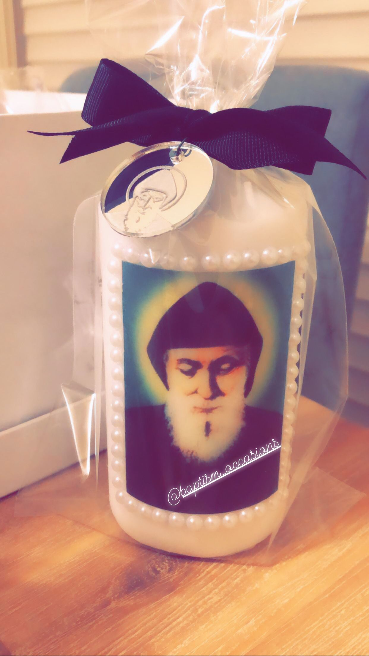 St Charbel in 2020 Personalized candles, Baptism favors