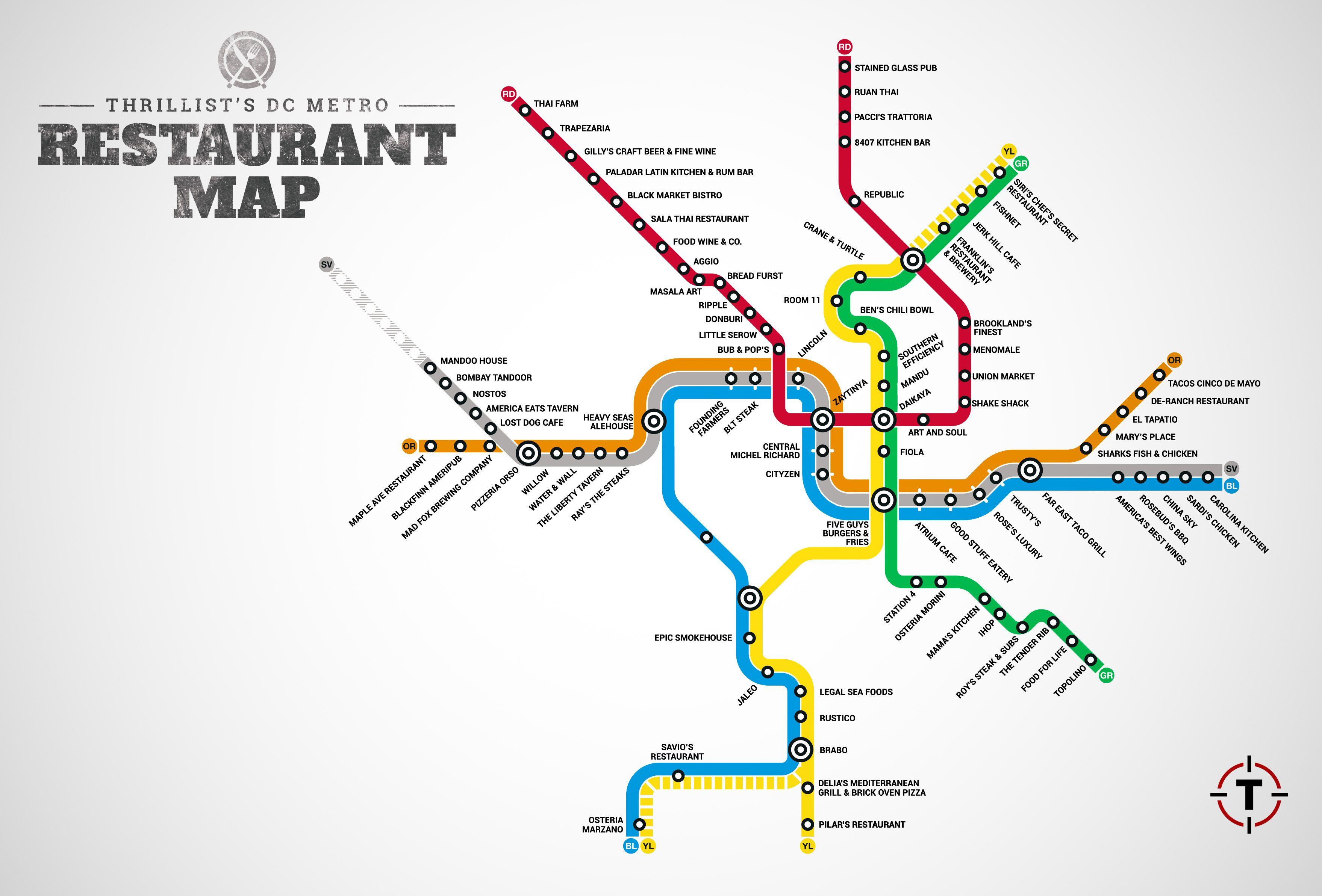 DC Metro Restaurant Map http://www.thrillist.com/eat/washington-dc ...
