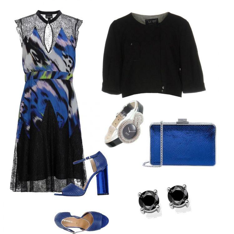 online store a78b6 a77bf Outfit elegante e chic, . Il vestito fantasia con inserti in ...