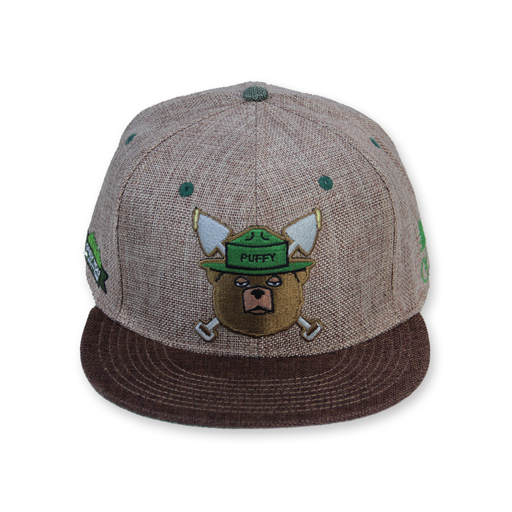 aade46e05f79d Puffy The Bear Brown Snapback  420  bear  Brown Snapback Hats