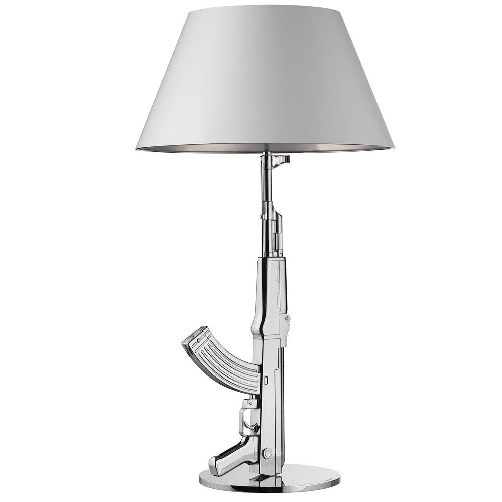 Gun Table Lamp: Now Thatu0027s Dope   Chrome At Amara