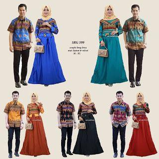 *( SRG 599 )*  Couple gamis / long dress  Mat : katun prada