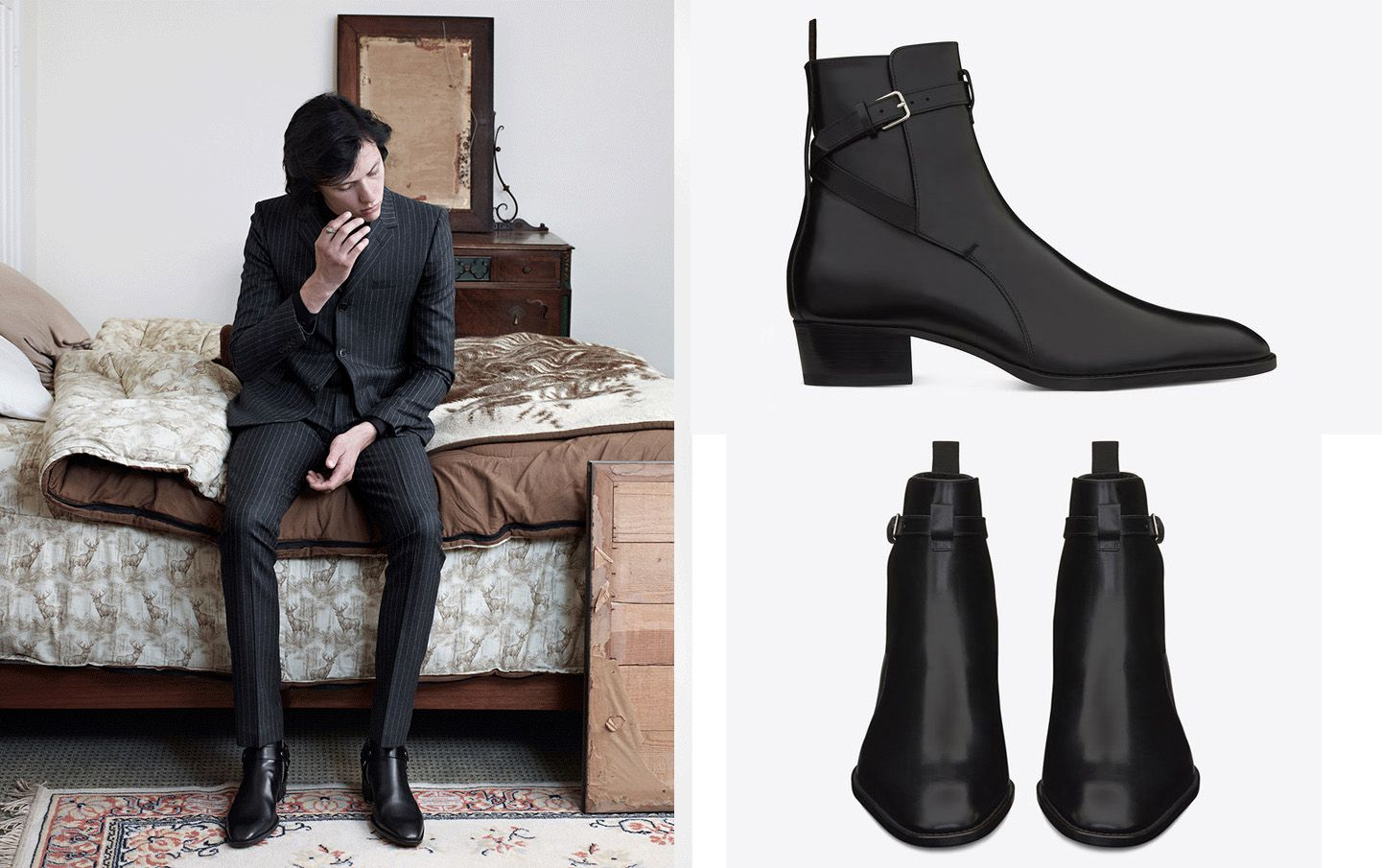 b1e09025407 Jodhpur, Dress With Boots, Gentleman Style, Ysl, Heeled Boots, Yves Saint