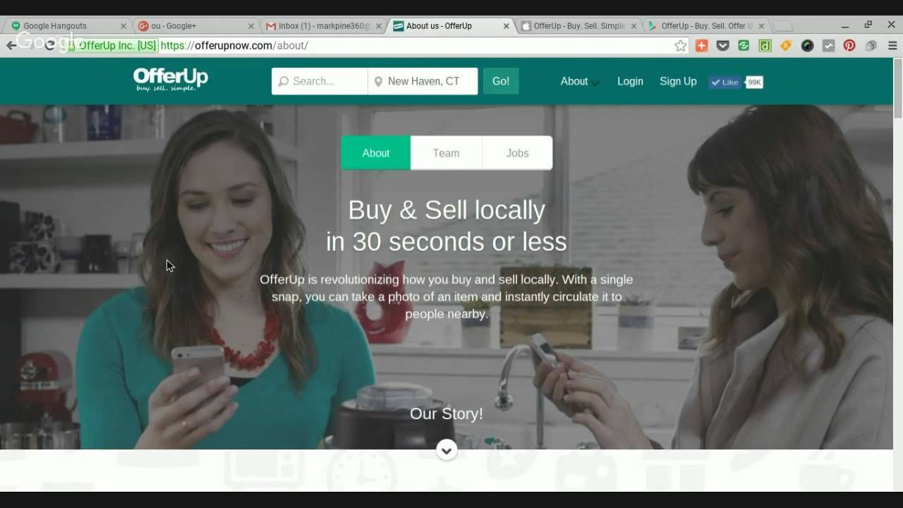 OfferUp website and apps to buy and sell locally