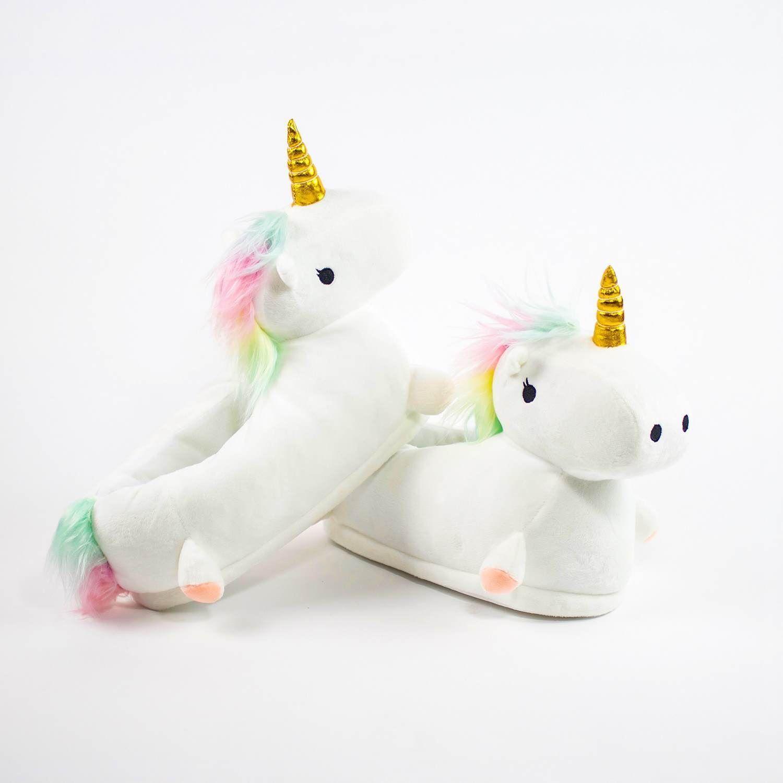 7f85261769a Light Up Unicorn Slippers Soft Kids Girls Womens Children Plush Led ...