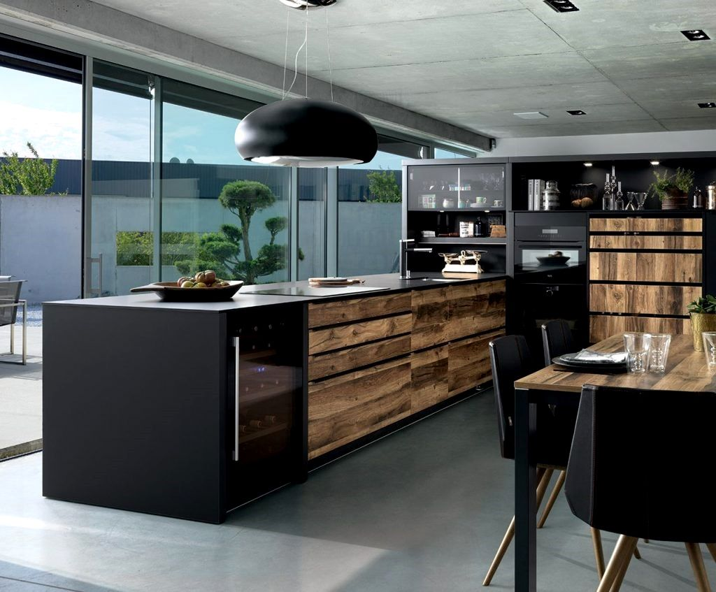 Cuisine Design Bois Ideas en 16  Cuisines design, Meuble noir
