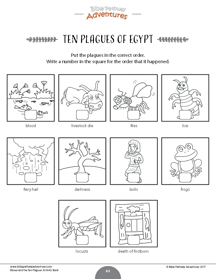 Moses And The Ten Plagues Activity Book Kids Ages 6 12 Passover Story Book Activities Ten Plagues [ 1100 x 850 Pixel ]