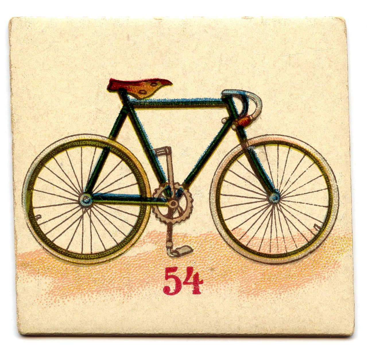 Free Clip Art - Vintage Game Cards - Dog House, Bike, Boat ...