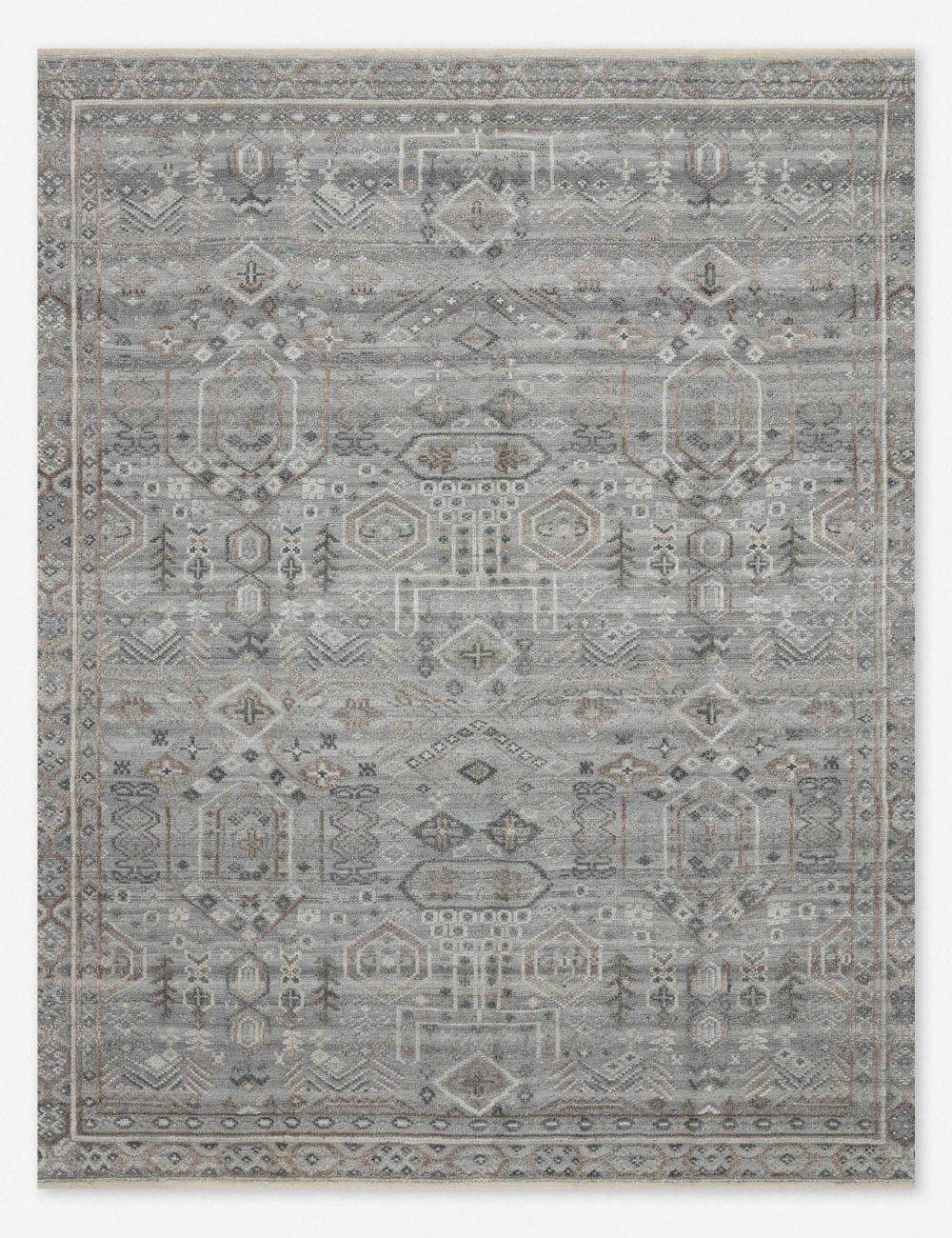 In A Cool Slate Hue The Anwen Rug Is A Timeless Tonal Area Rug Accentuated With An Elevated Texture And Hand Knotted Pa In 2020 Floor Rugs Traditional Furniture Rugs