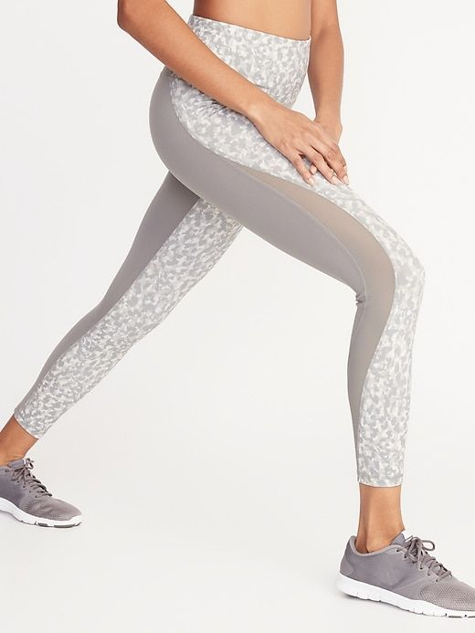 High Waisted Elevate 78 Length Mesh Splice Compression