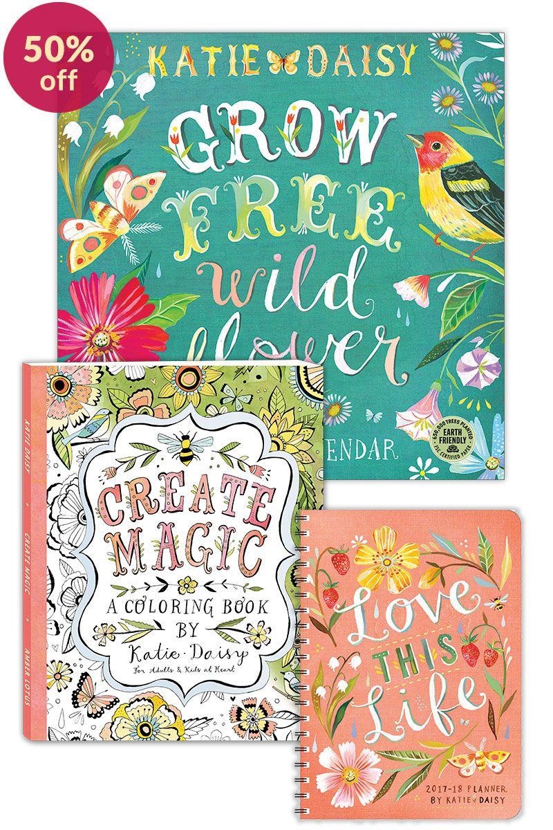 Artist Spotlight Katie Daisy Painter And Wildflower Coloring Books Artist Daisy