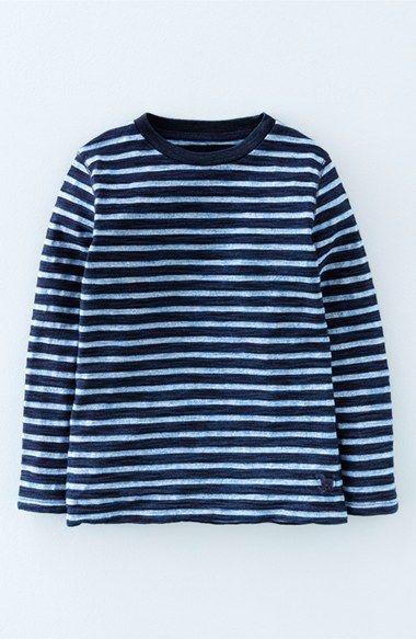 Mini Boden 'Indigo' Stripe Cotton Jersey T-Shirt (Toddler Boys, Little Boys & Big Boys)