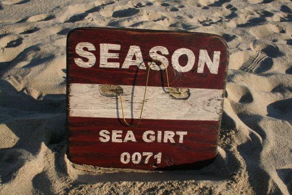 Sea Girt Nj Beach Badge Sign Customize By Signsbythesea On Etsy 85 00