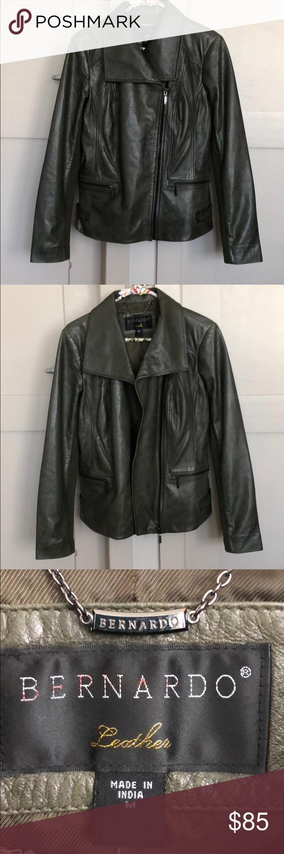 Nwot Bernardo Leather Jacket Medium Leather Jacket Jackets Leather [ 1740 x 580 Pixel ]