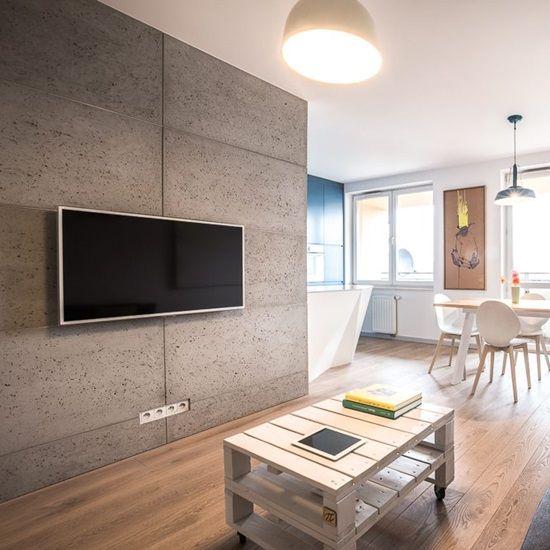 ściana Z Paneli Betonowych Http Www Concreate Pl Pl Realizacje 114 Mieszkanie Prywatne Unikatlab I Em11 Kraka W