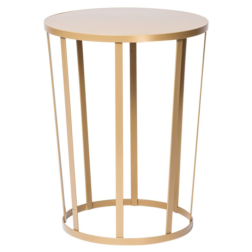 Hollo Round Side Table Gold Amandine Chhor And Aissa Logerot