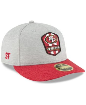 hot sale online 51aaa 7ab39 New Era San Francisco 49ers On Field Low Profile Sideline Road 59FIFTY  Fitted Cap - Gray 6 7 8