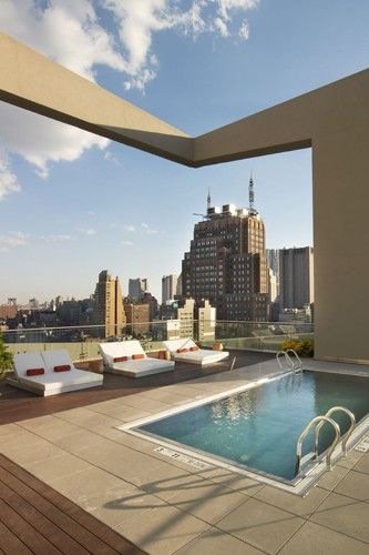 Hotel Pool, Rooftop Pool, New