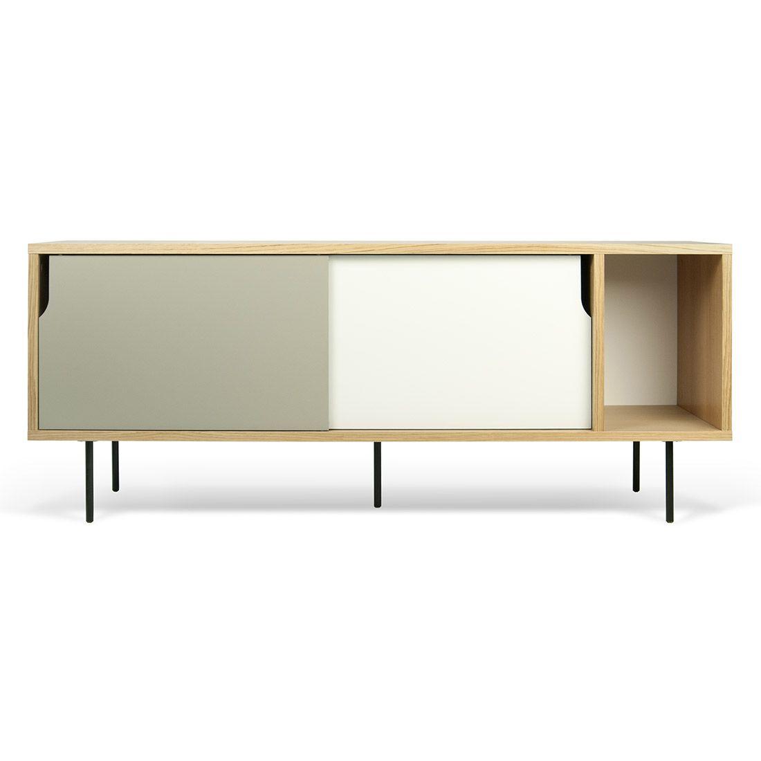 Buffet dann ante bianche e grigie h s h oak sideboard for Mobili design italiani