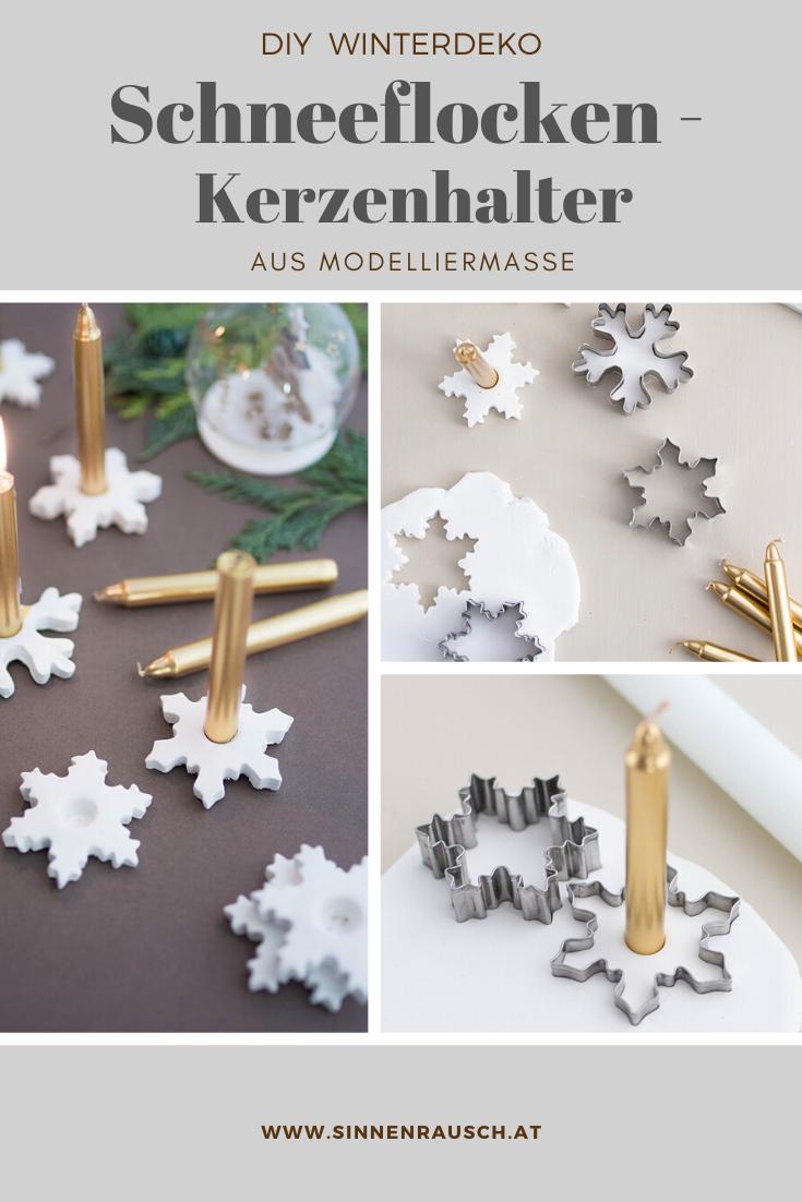 Photo of Let it snow: Schneeflocken-Kerzenhalter aus Modelliermasse – Sinnenrausch – Der kreative DIY Blog für Wohnsinnige und Selbermacher
