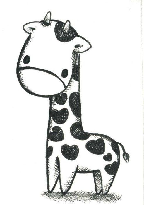 heart giraffe:)