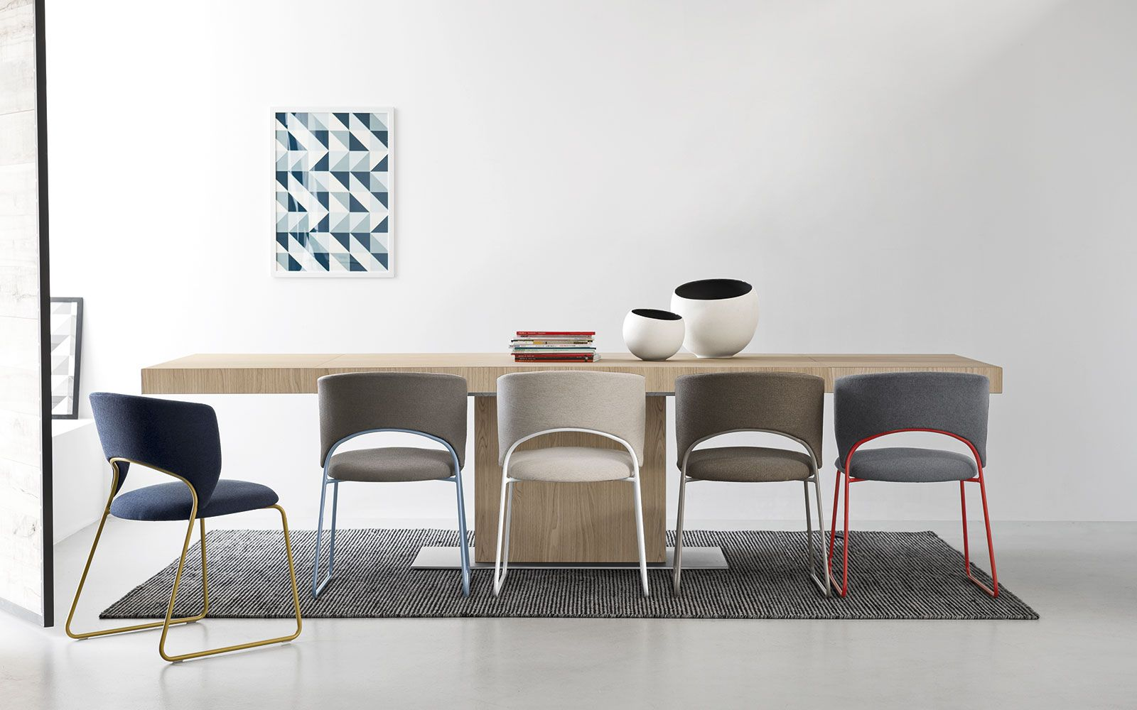 Duffy metal chair large seat calligaris cs 1444 dining