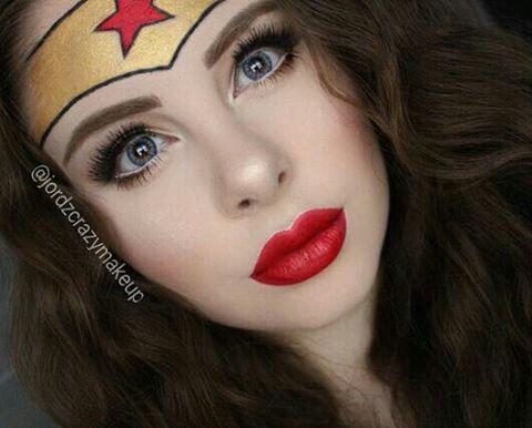 wonder woman face paint  cool halloween makeup wonder