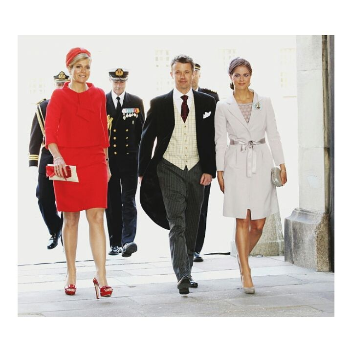 The Queen, The Crown Prince, and The Princess!  #queenmaxima #crownprincefrederik #princessmadeleine #RoyalChristening #RoyalFamily #royal #royalty #likemeback #Likesforlikes #like4like #likeforlike #likes #likeback