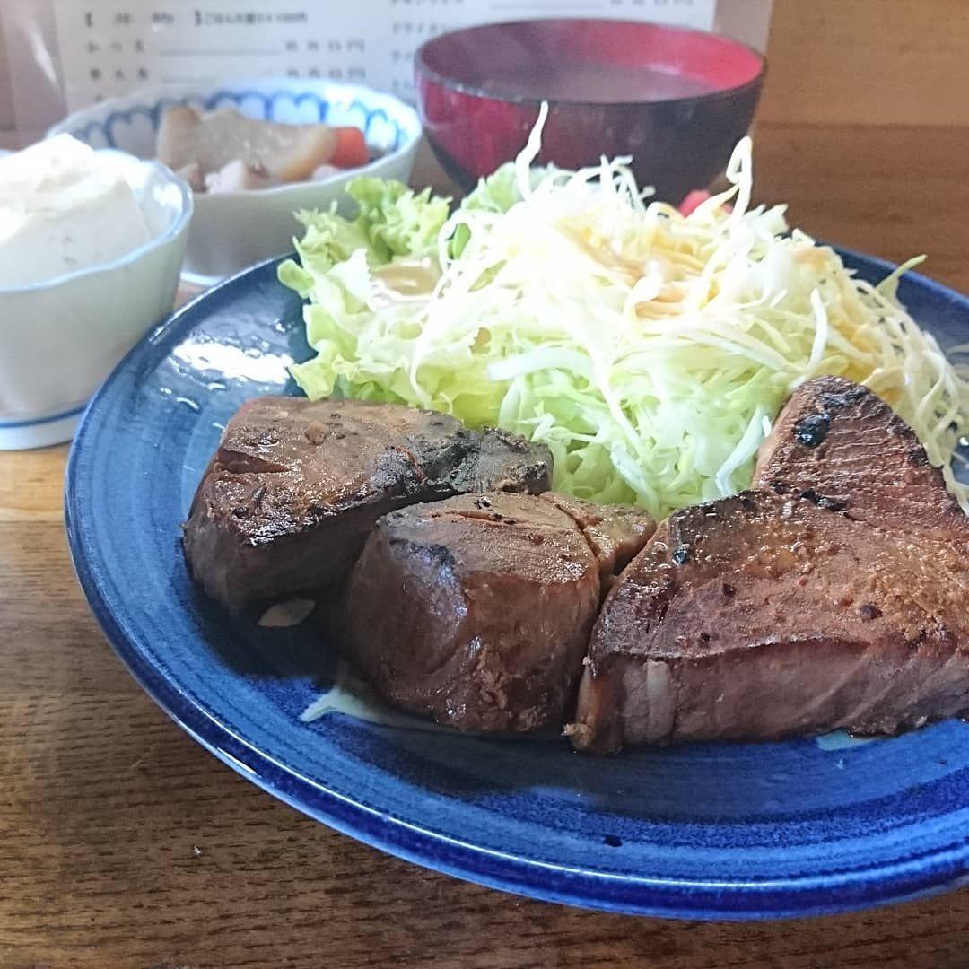 はinstagramを利用しています バランスのよい食生活をば ハルピン食堂 の今日の日替わりはマグロの照り焼き food steak meat