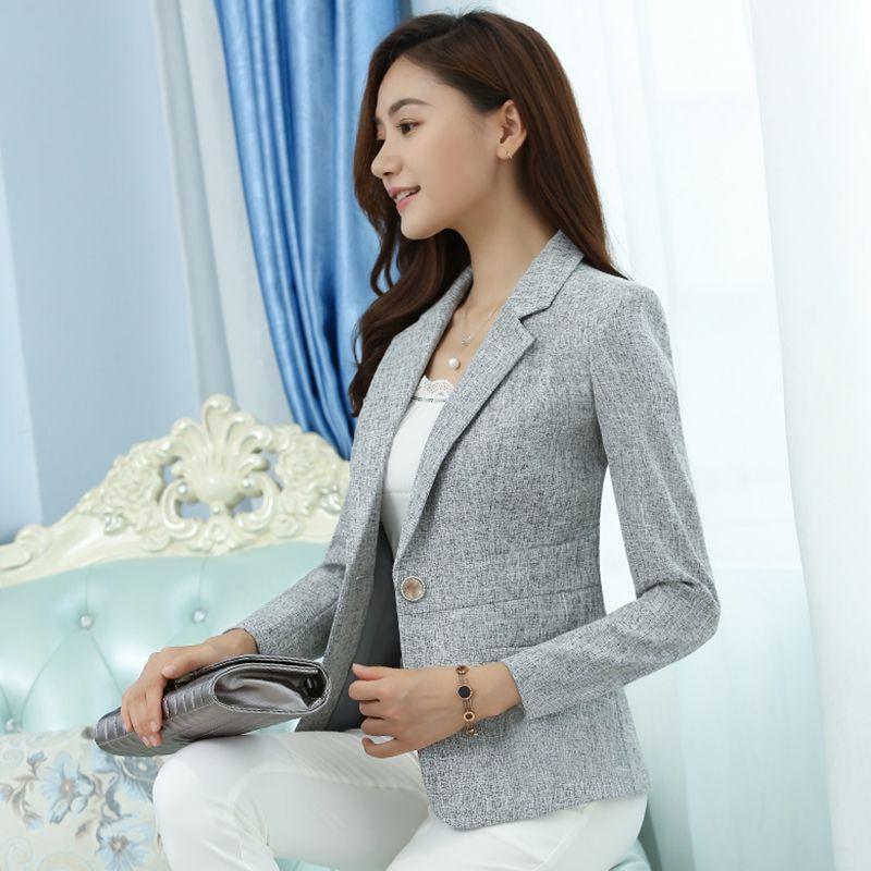 Cheap 2018 de Las nuevas Mujeres abajo chaquetas Chaquetas para mujeres s  5xl busto 83 111 cm de Las Mujeres Blazer Señoras Chaqueta Chaqueta 8012 b73af25cf63c