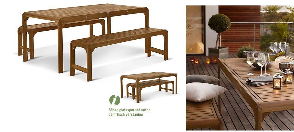 Sweet Modern Bench Set Gartenmobel Mobel Tchibo