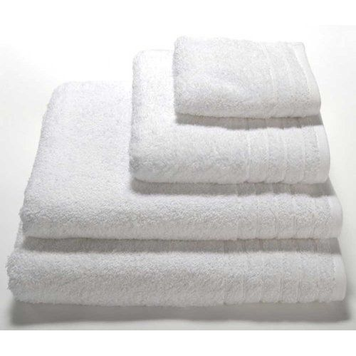 Linenhall Plain Dye Cotton Bath Towel Home Essence Colour White