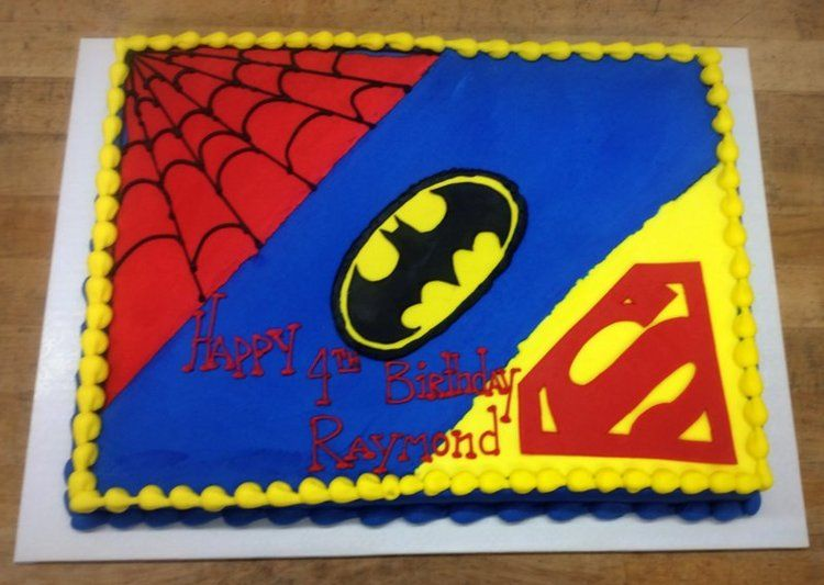 superman birthday sheet cake