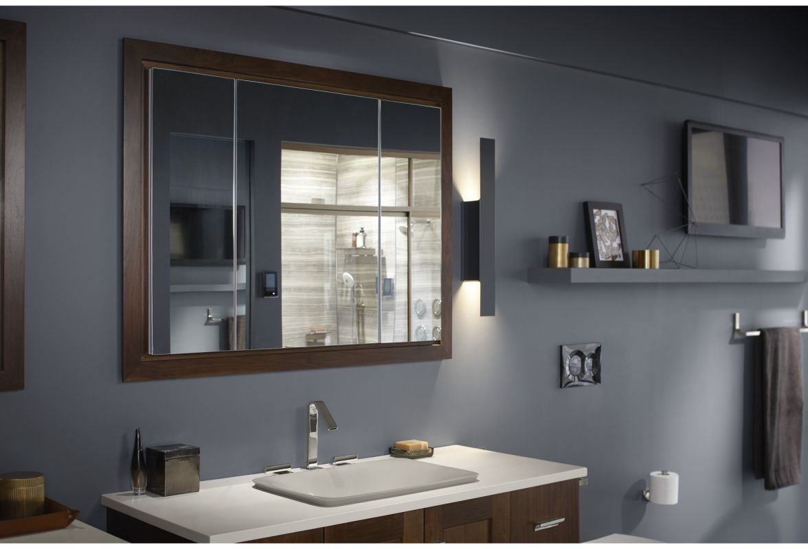 Kohler K 99011 Na N A 40 X 30 Triple Door Reversible Hinge Frameless Mirrored Medicine Cabinet From The Verdera Collection Bathroom Storage Solutions Bathroom Design Medicine Cabinet Mirror