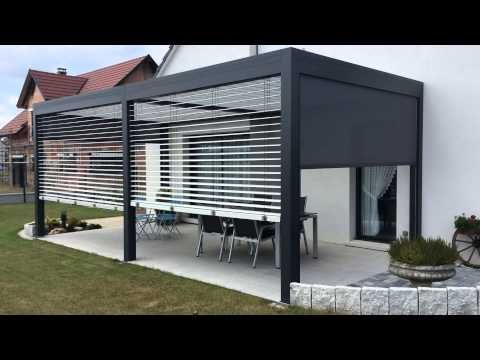 retractable roof pergola top star installation. Black Bedroom Furniture Sets. Home Design Ideas
