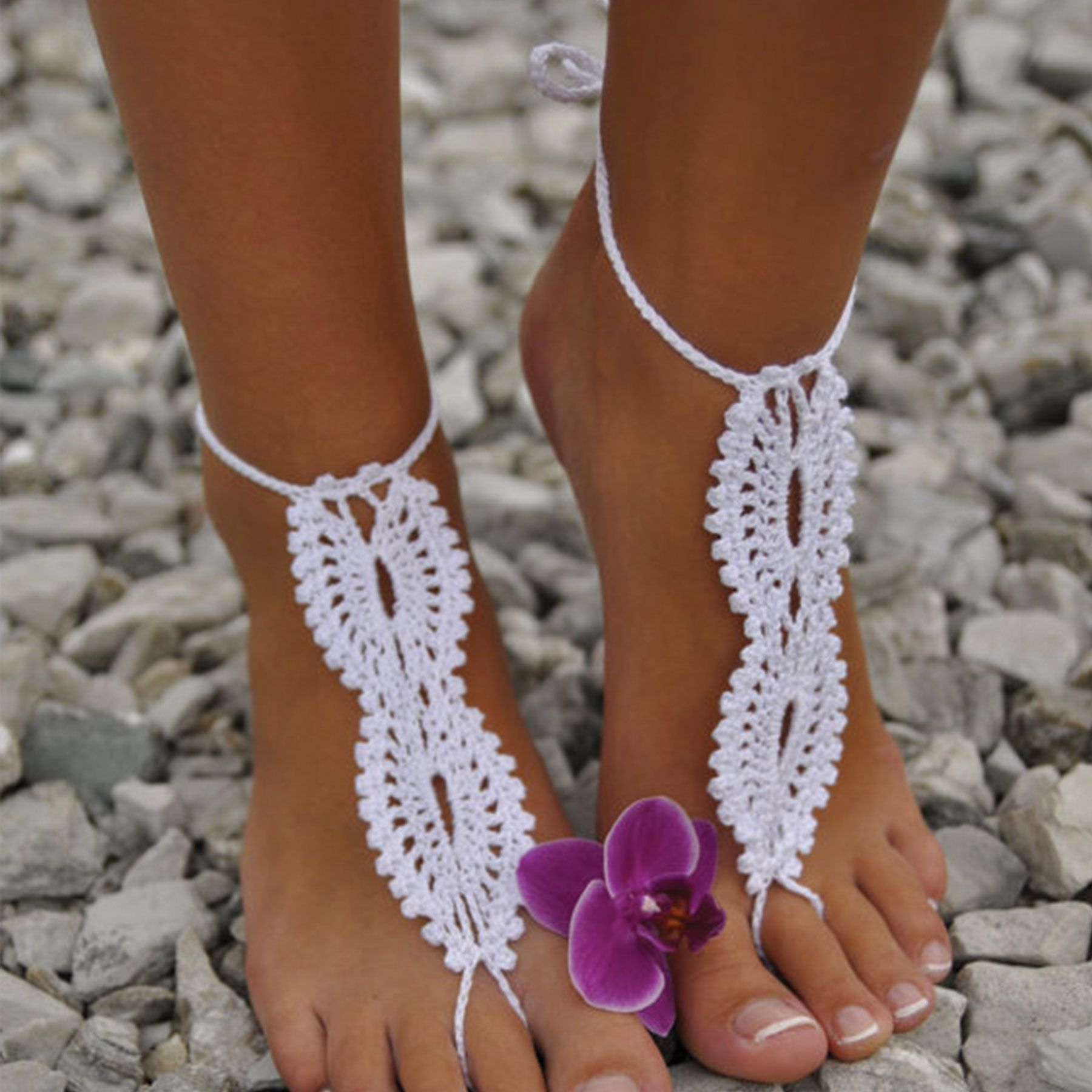 9415eb725 Barefoot beach sandals. Made for boho and beach brides by Forever Soles