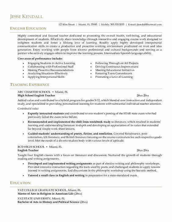 Esl Teacher Job Description Resume Elegant Example English Teacher Resume Cv Style Career Pinte In 2020 Teacher Resume Examples Teaching Resume Teacher Resume Template