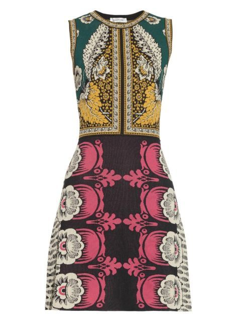 Valentino Foulard Intarsia-Knit Dress. Shop it and 39 other dresses perfect for a spring wedding.