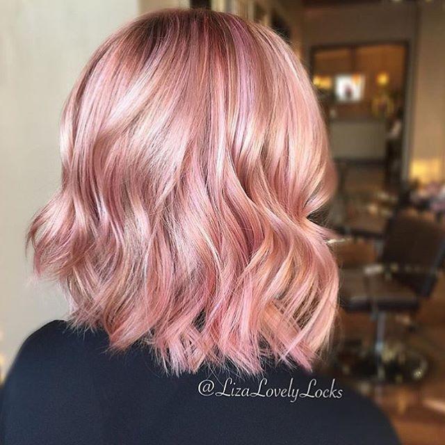 Pretty in pink  #regram @lizalovelylocks #americansalon